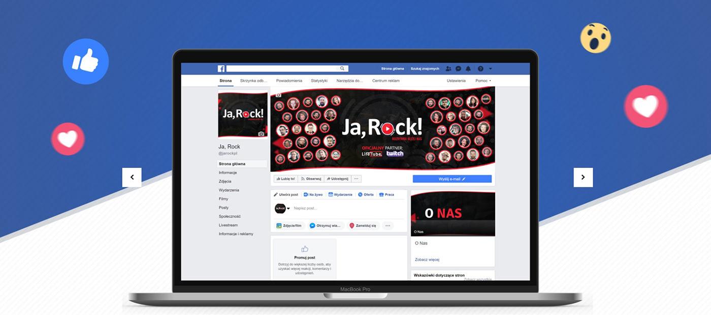 cover dark design facebook jarock poland social White