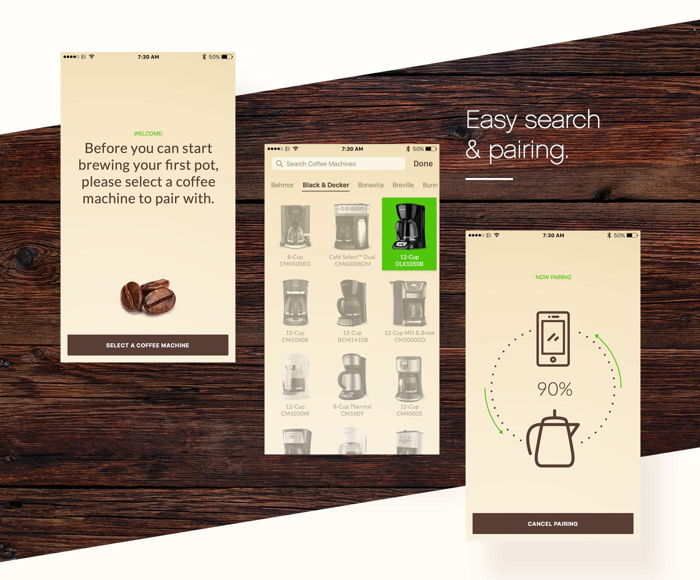 UI/UX app design product design  Interaction design  Interface Coffee mobile