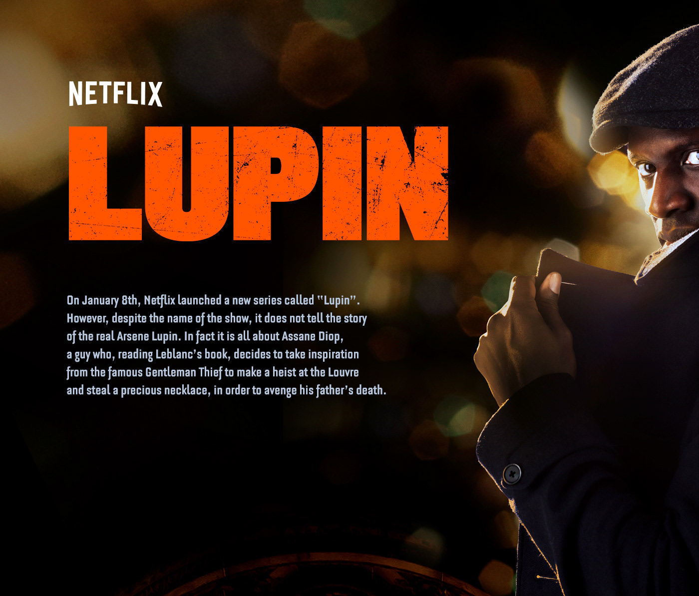 Advertising  art direction  entertaiment lupin motion Netflix illusion omarsy commercial series