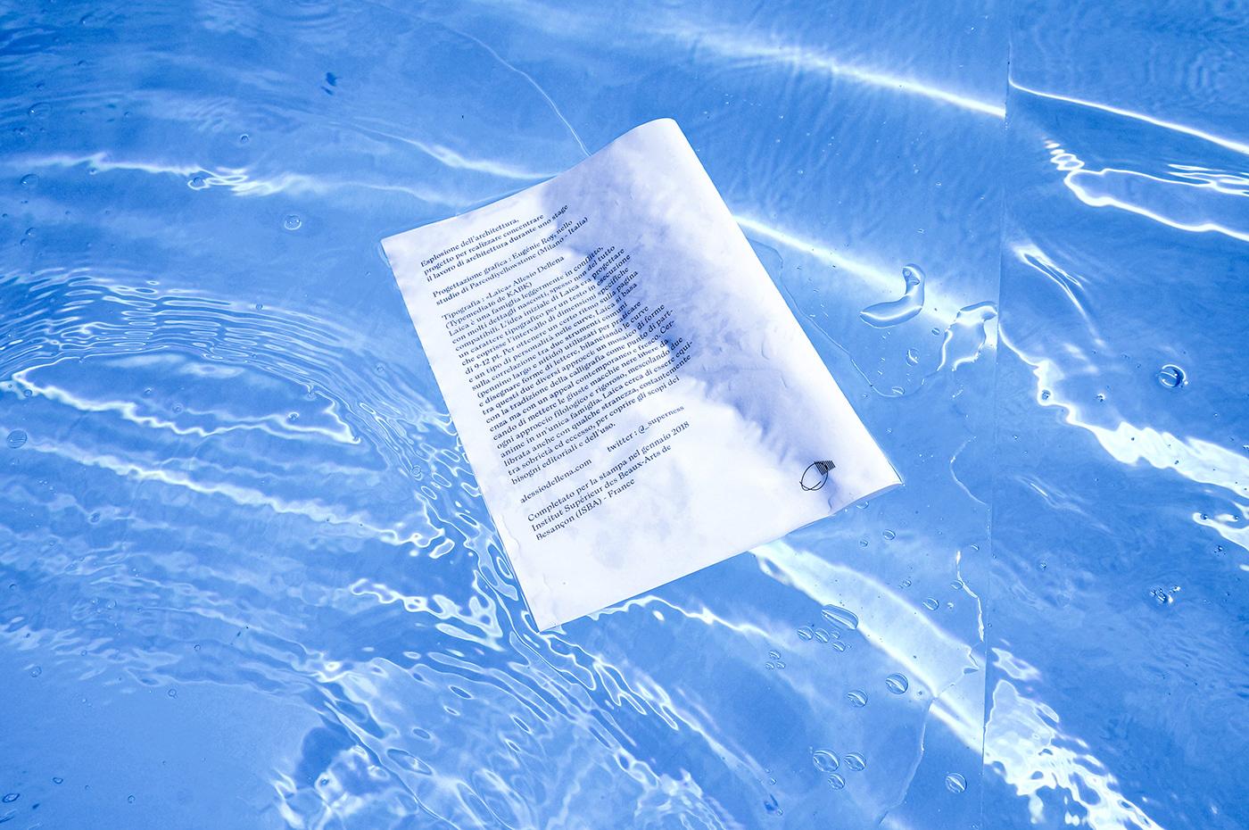 graphic design  edition publishing   mise en scène typefont architecture swimming pools art visuel Graphic Designer graphisme