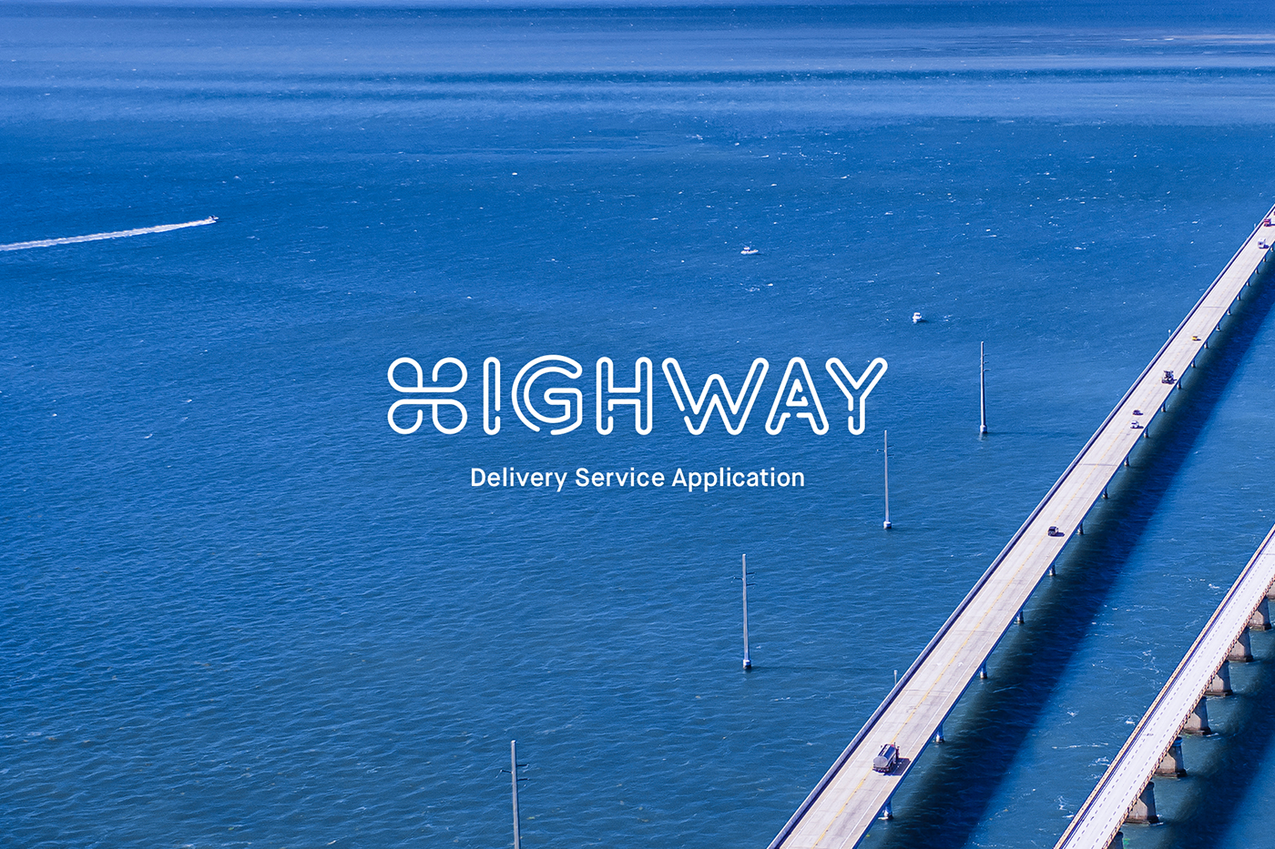 shipping application highway logo service android mobile