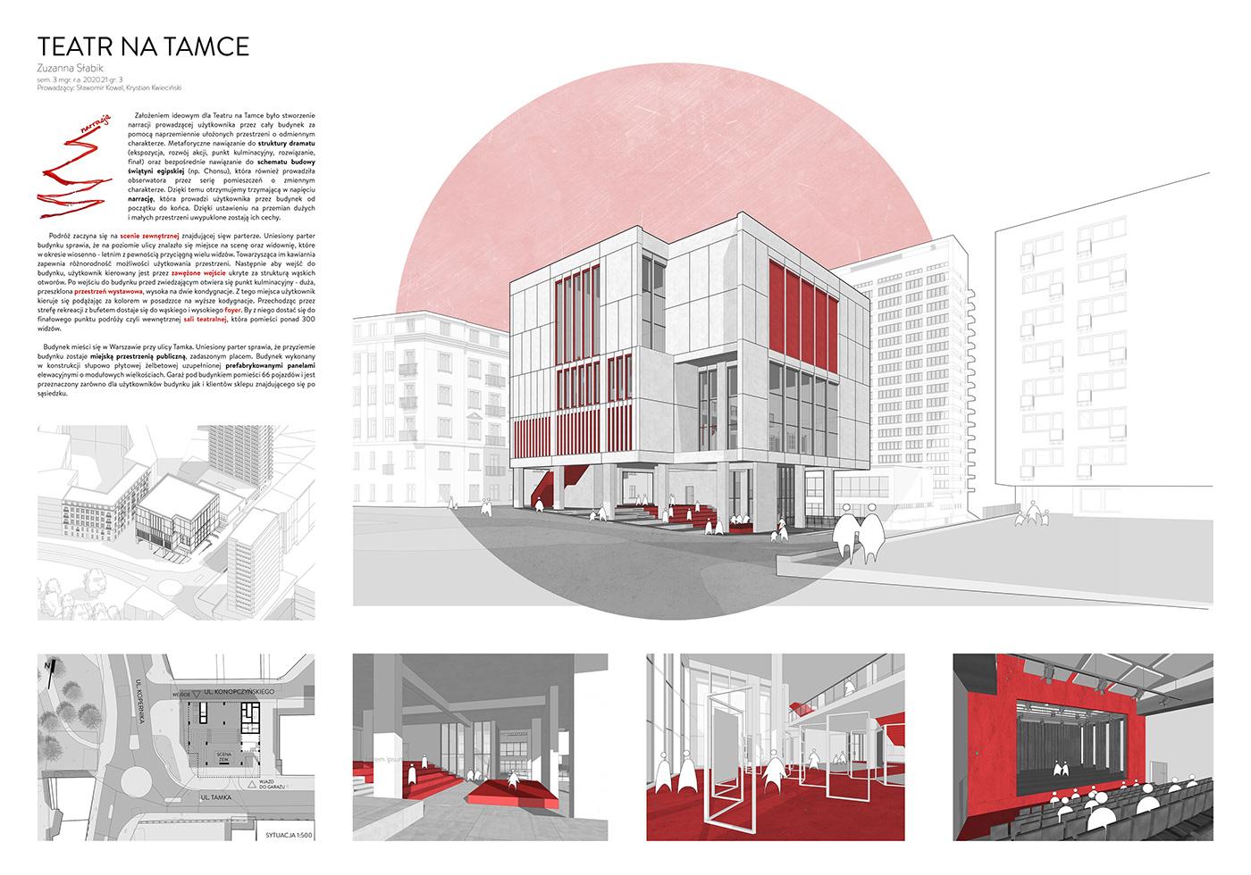 modern building narration design Prefabrication theater  theater architecture Theater Design