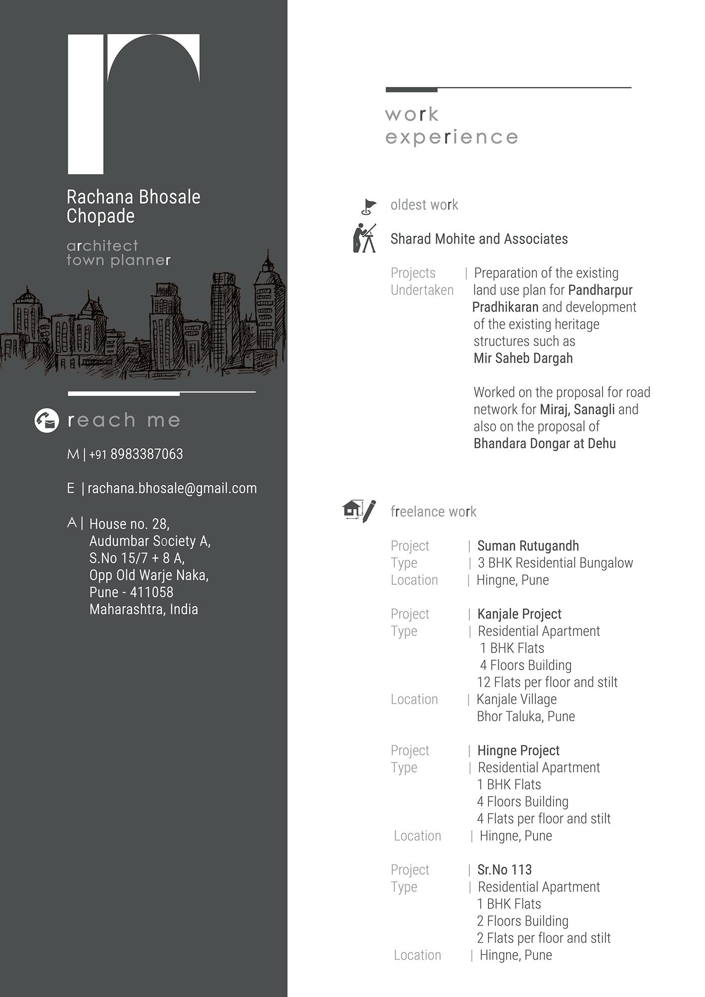 Resume Design Freelance Work on Behance