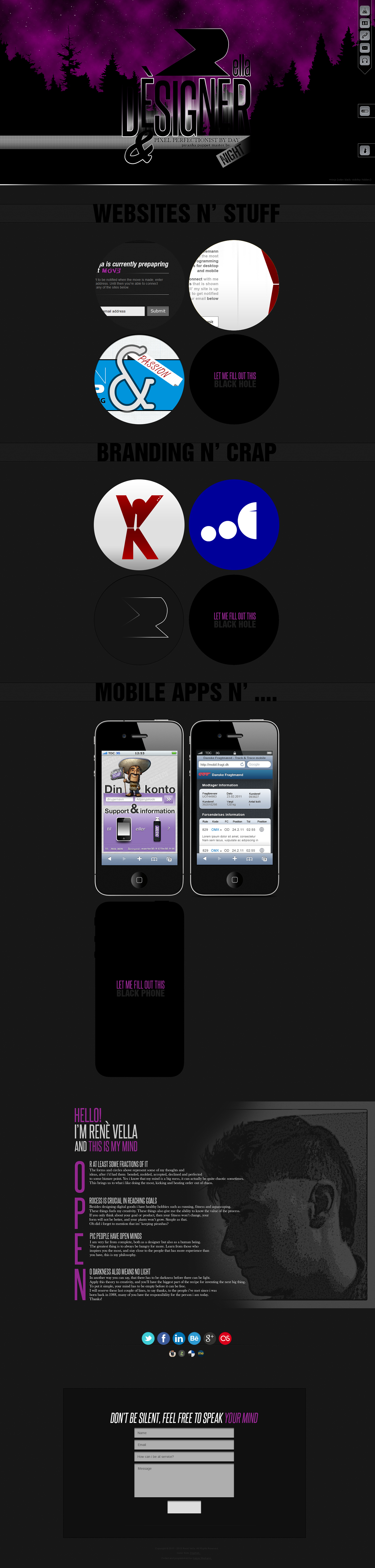 creative portfolio user experience Webdesign onpage ux UI digital