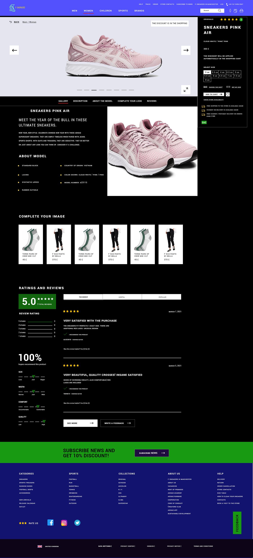 hire a web designer Order a landing page Order a website order design Order landing page design Order online store design Order website design Shoe Store sneaker shop
