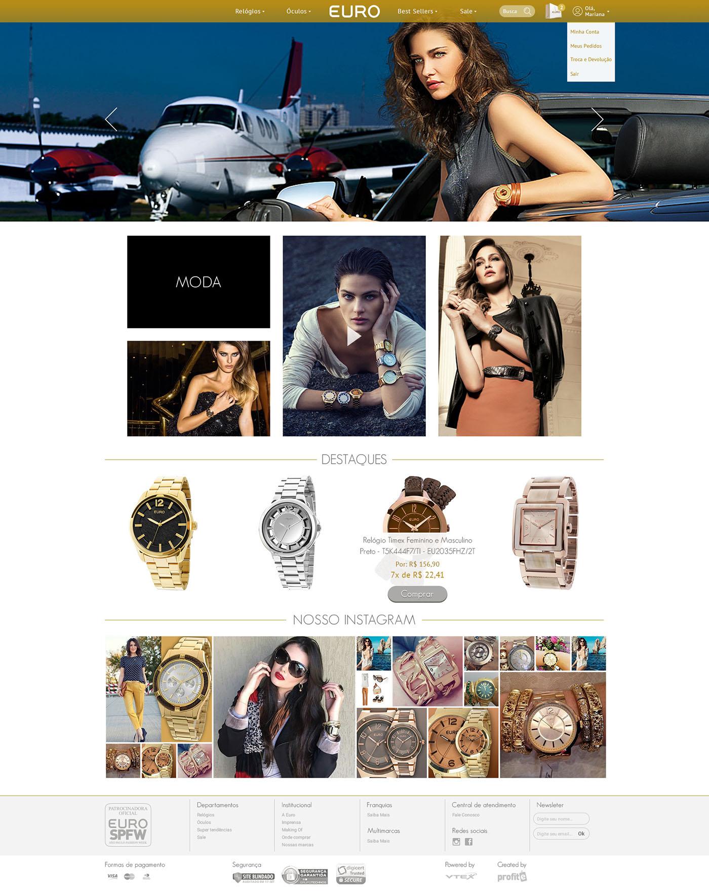 Ecommerce store loja Relógios Watches