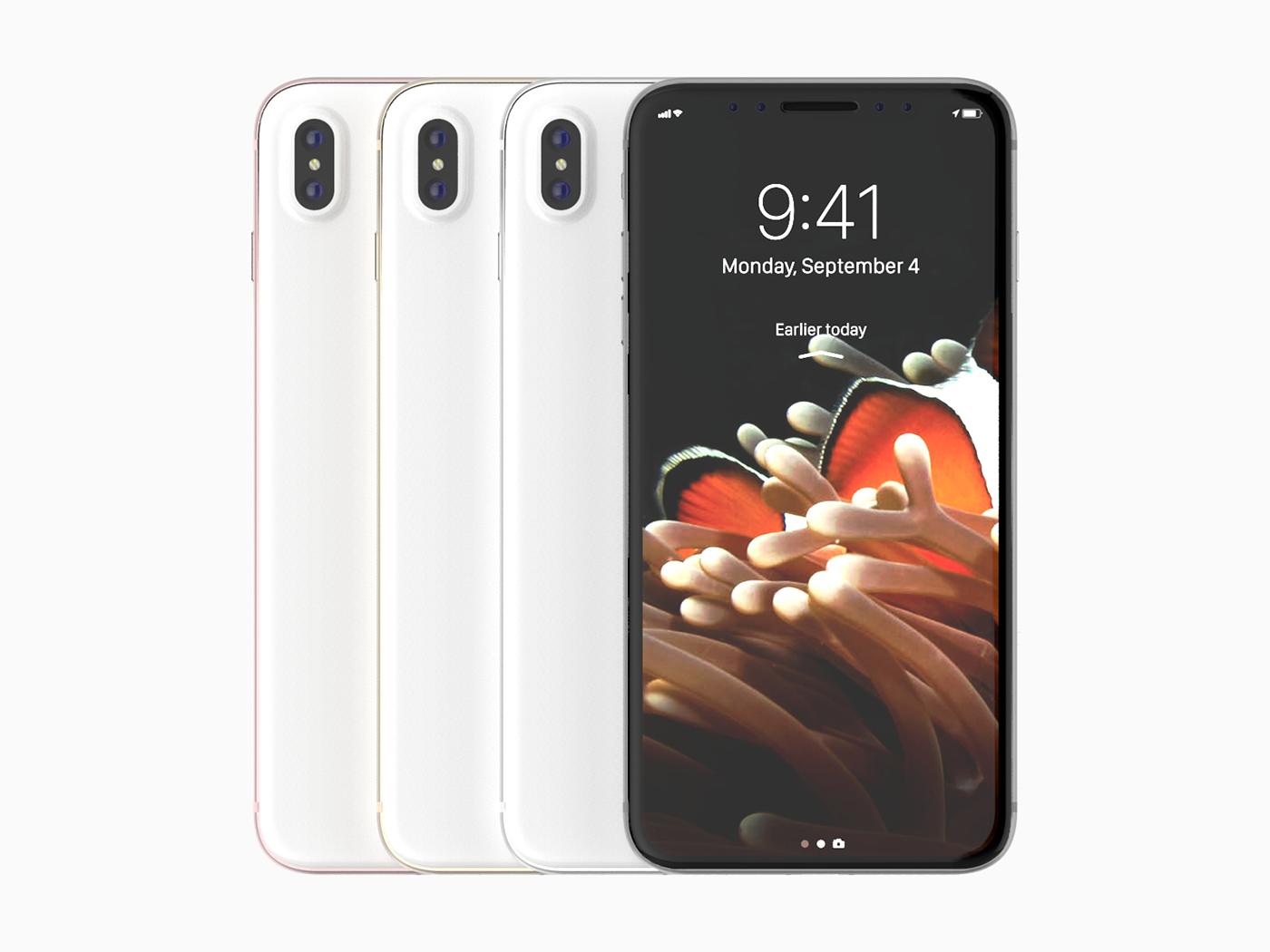iphone,iphone 8,apple,minimalistic,aluminum,glass,anodized,black,White,Rose Gold