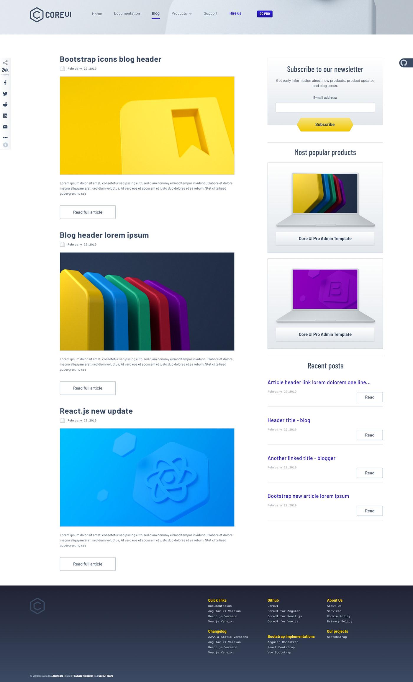 CoreUI: Rebrand and Web on Pantone Canvas Gallery