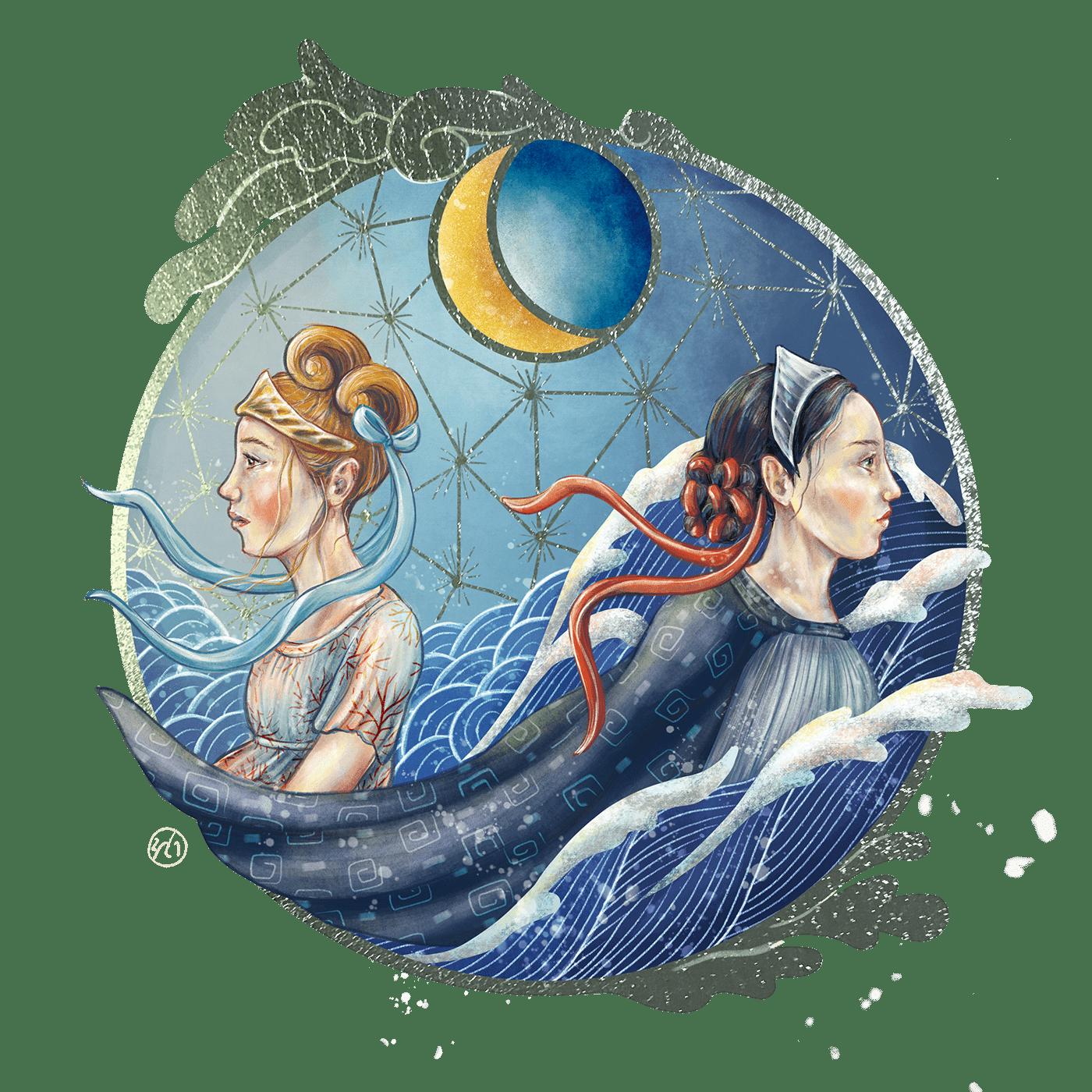 ebb fairytale fantasy flood mermaid mermay Ocean sea spirit tide