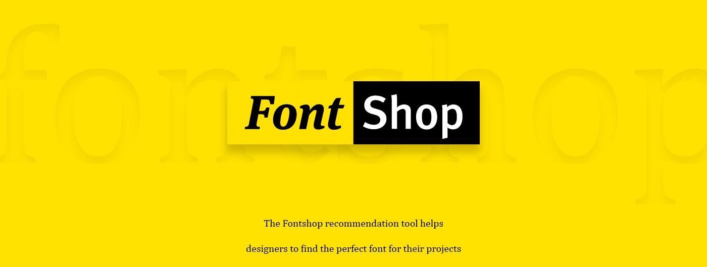fontshop onlinetool typography   fonts animation  Responsive Calligraphy   Webdesign UI ux