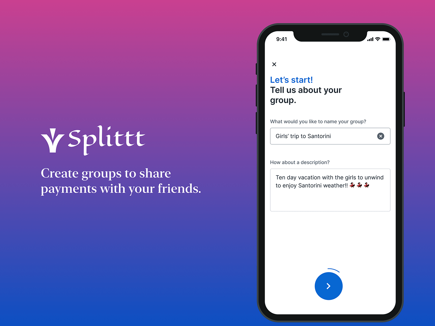 bills group payment mobile UI/UX