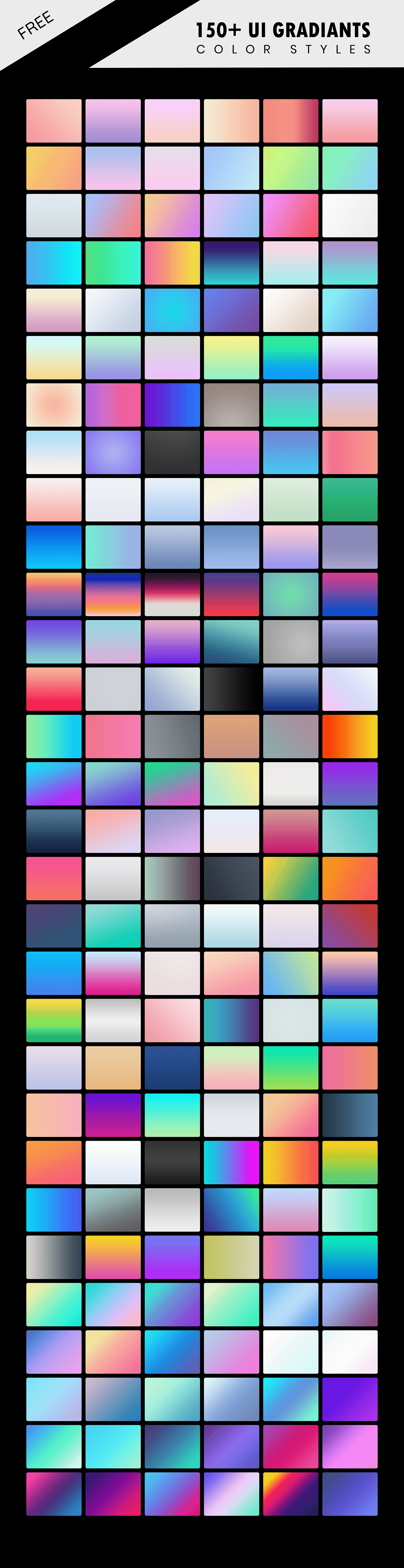 Free 150+ UI Gradients Color Styles
