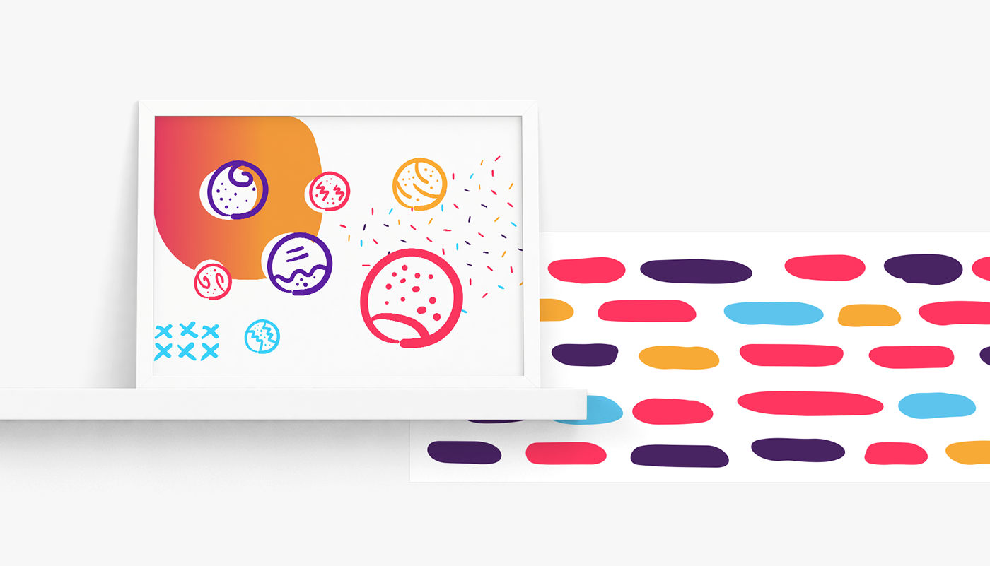 Grimi branding  darko janevski aimlessfly logo design art direction pink