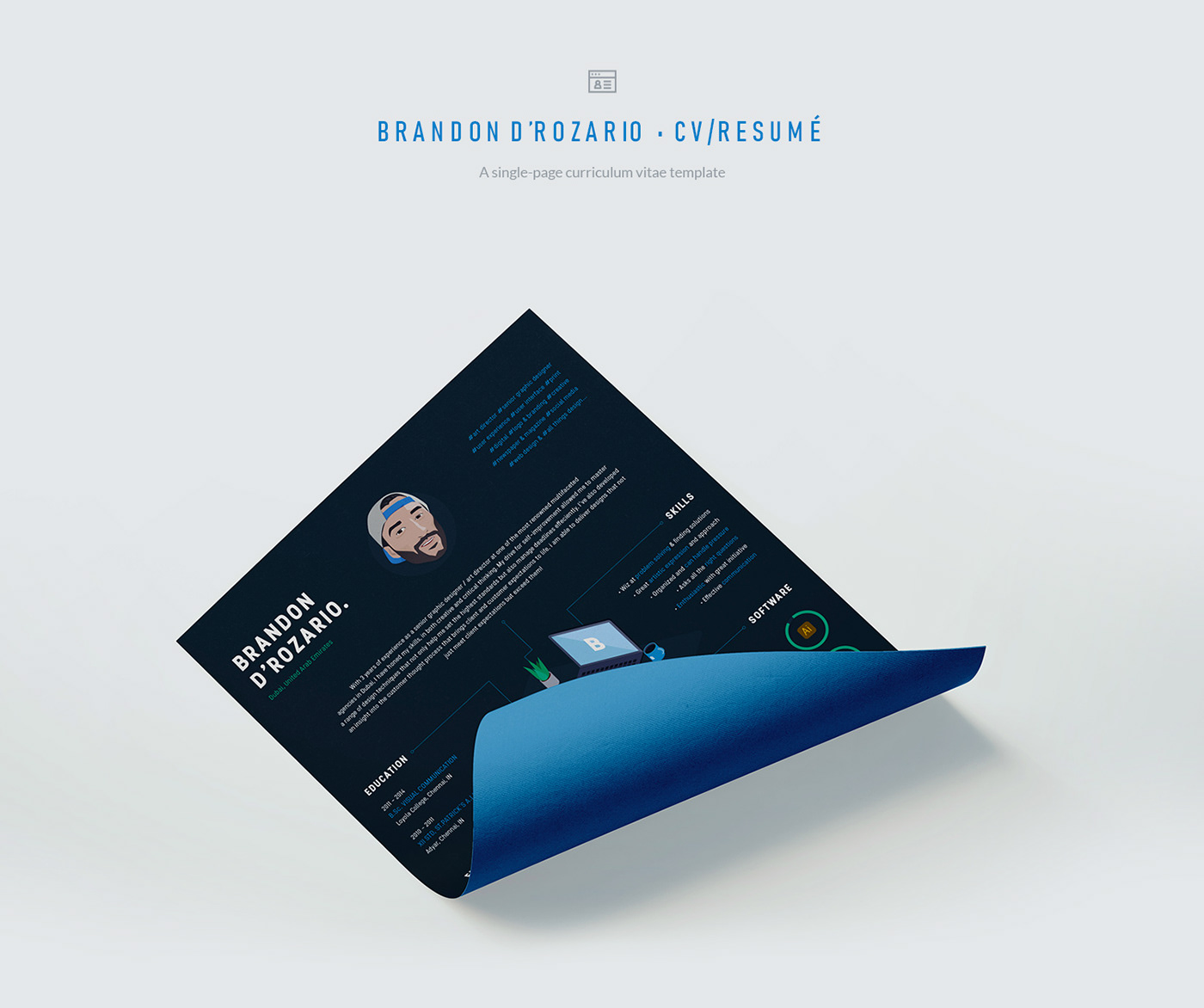 Cv Resume Graphic Designer Dubai On Behance