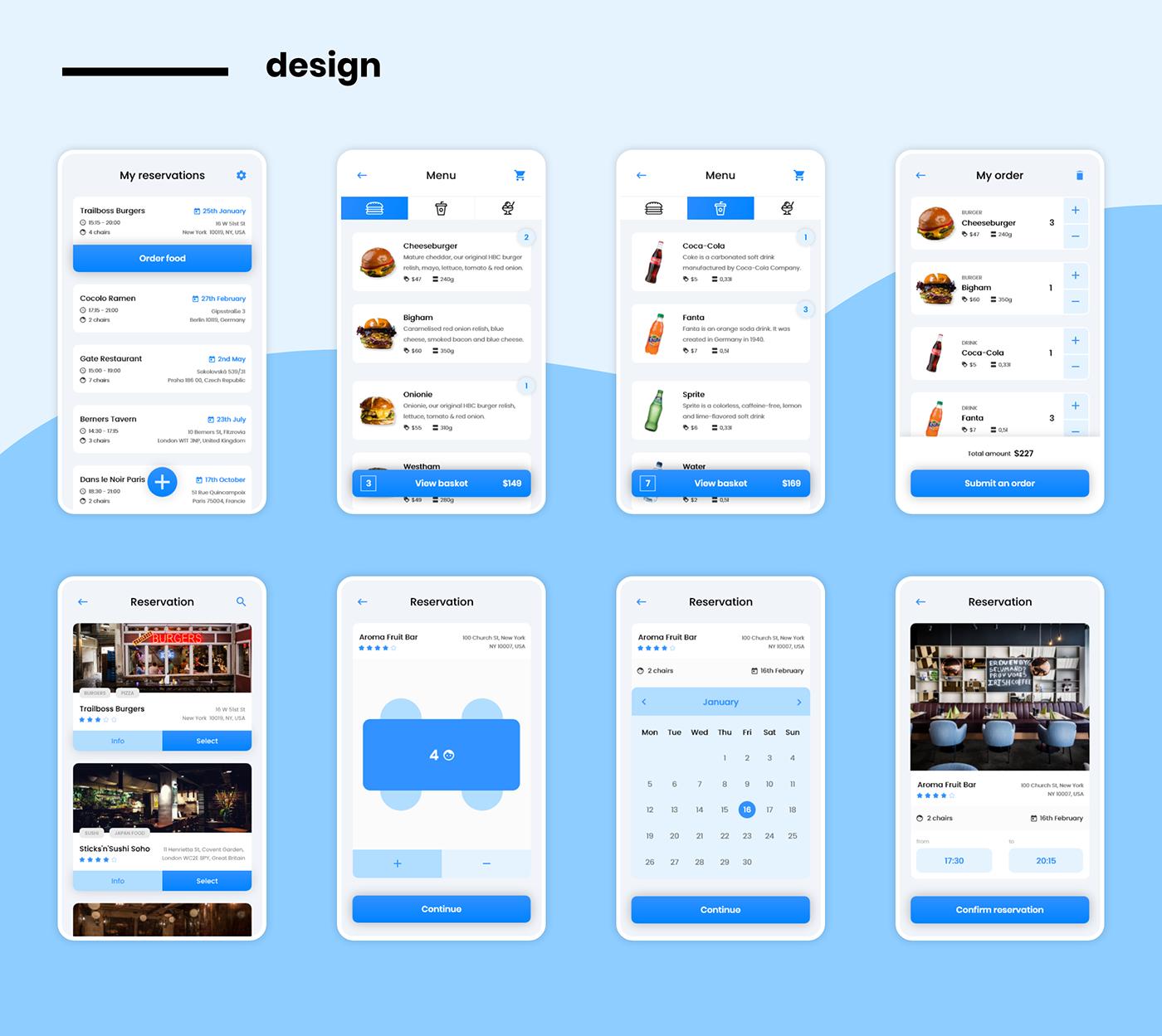 app mobile UI ux Food  restaurant design uiux Mobile app mobile app design