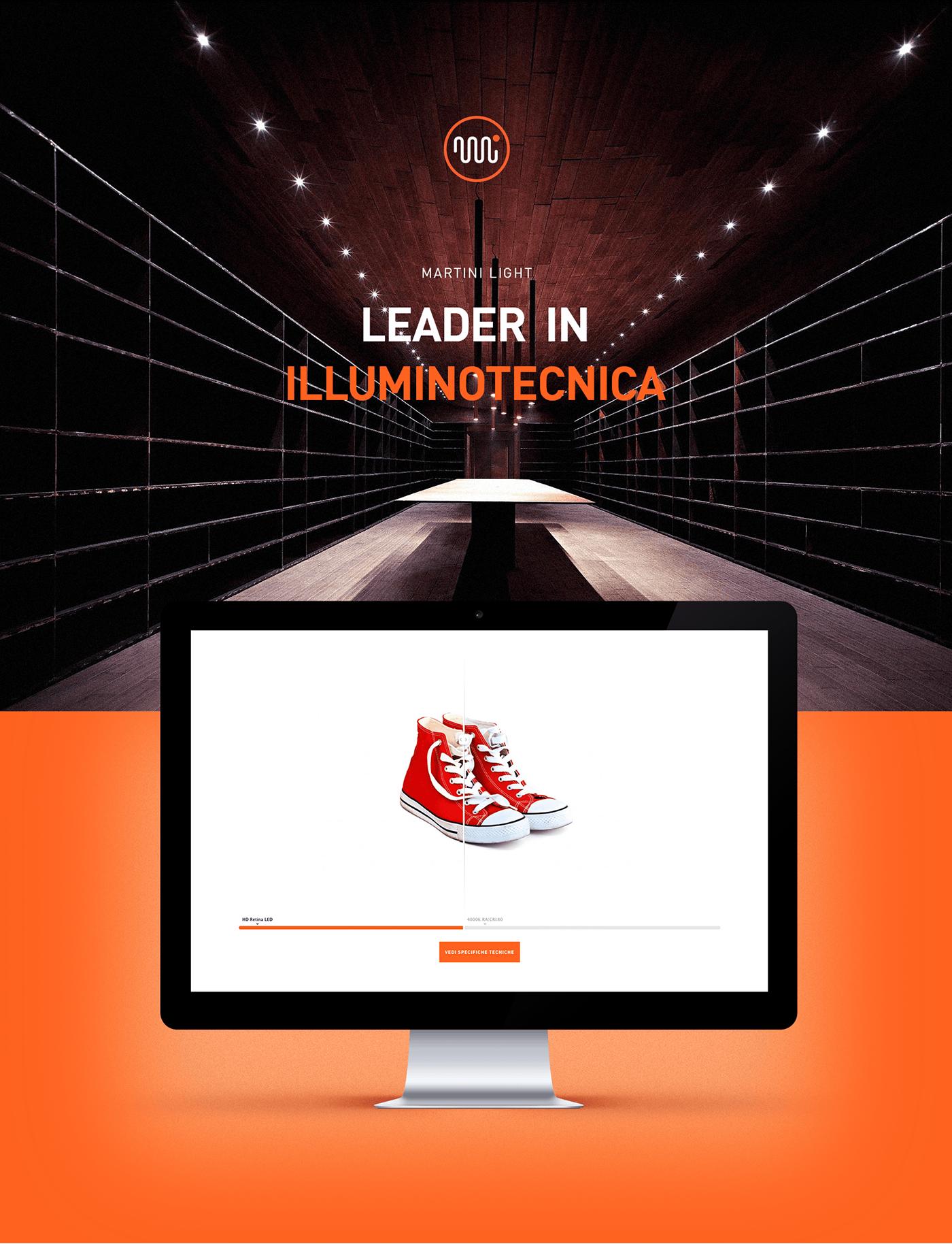 lights Website corporate orange icons Webdesign