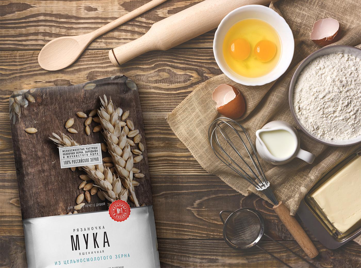 package package design  flour flour packaging rebranding