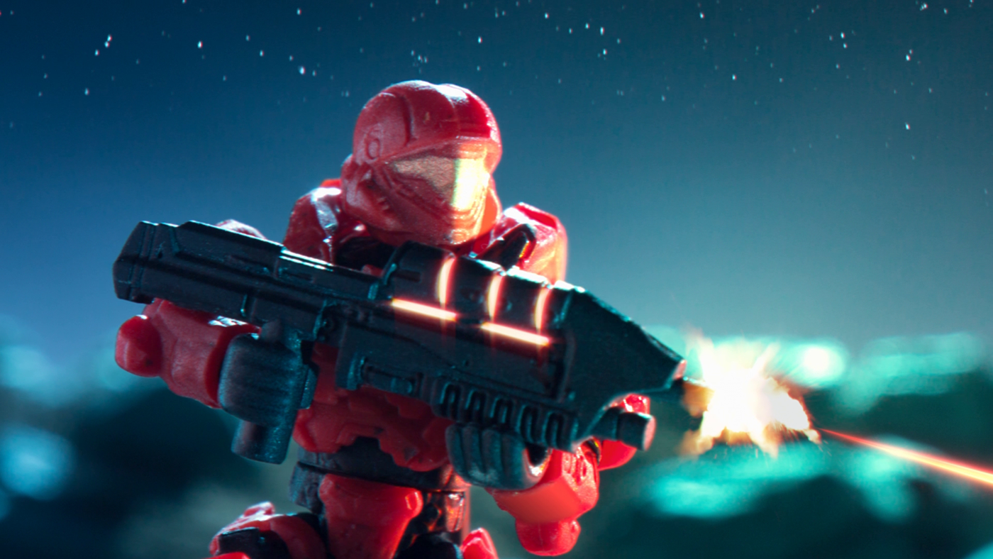 stop motion Megabloks Halo Mtv Viacom break dance animation  set design  stop motion animation Advertising