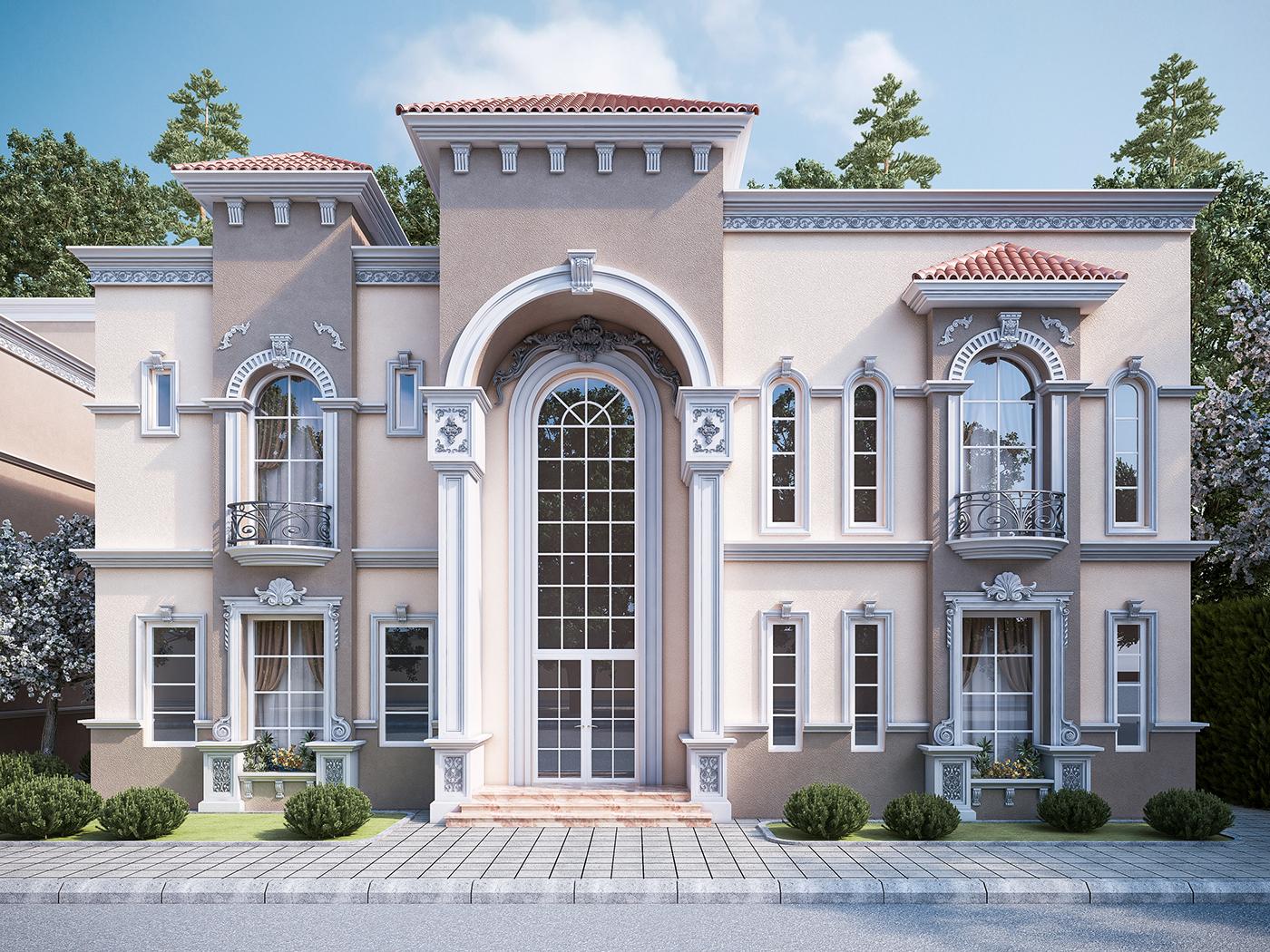 Villas exterior on behance for Villa exterior design gallery
