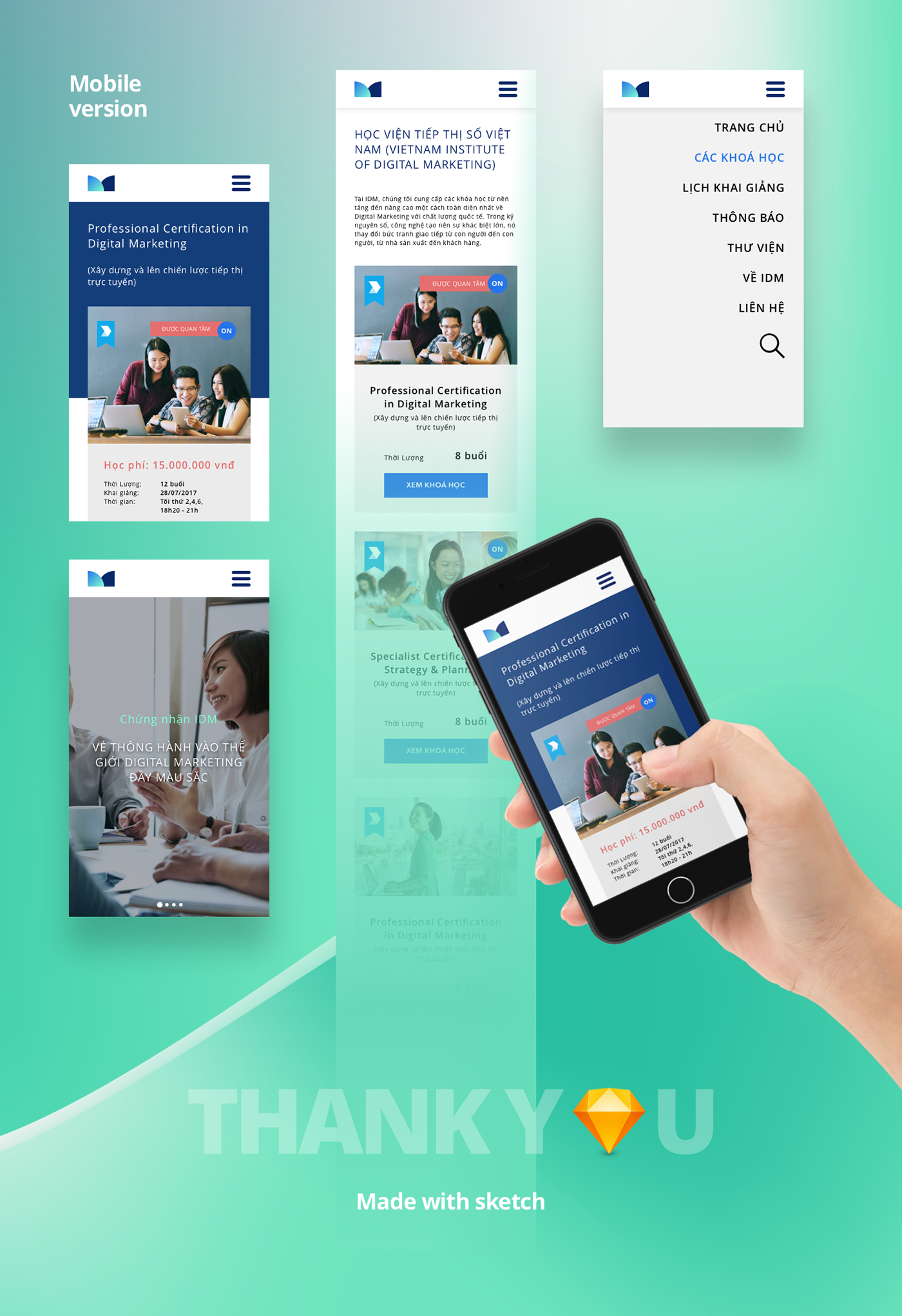 idm institute digial marketing   Website ux UI tri vietnam hcmc