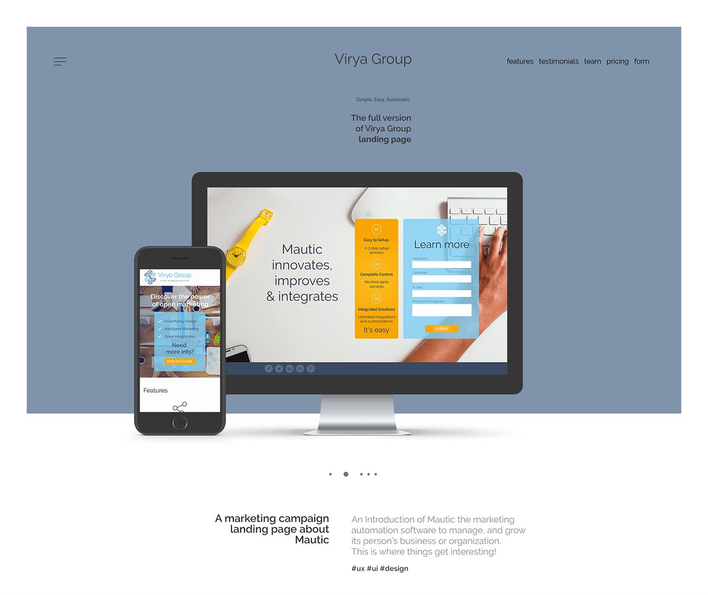 Virya Group, Landing page on Behance