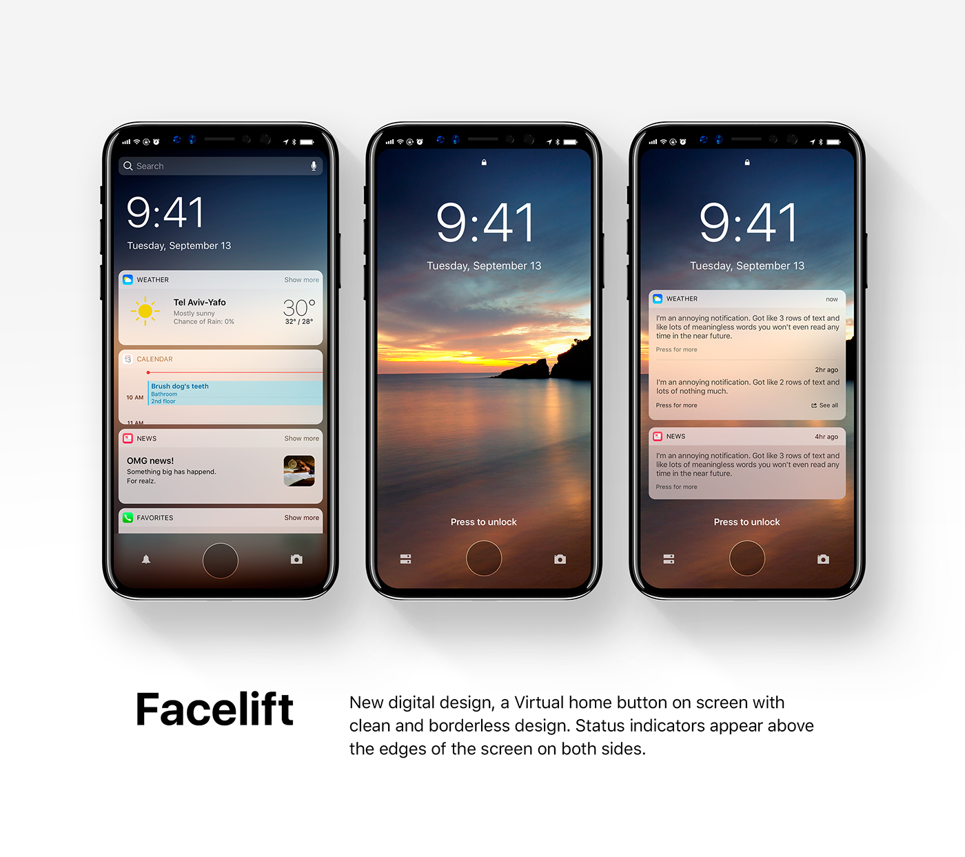 most recent iphone update new ios 12 concept displayed on iphone 8 on behance 6556