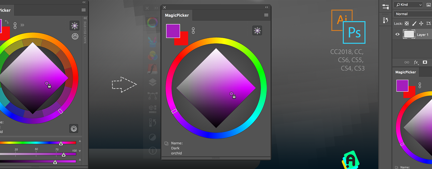 Tips Tricks 7 For Magicpicker Color Wheel Other Panels On Behance