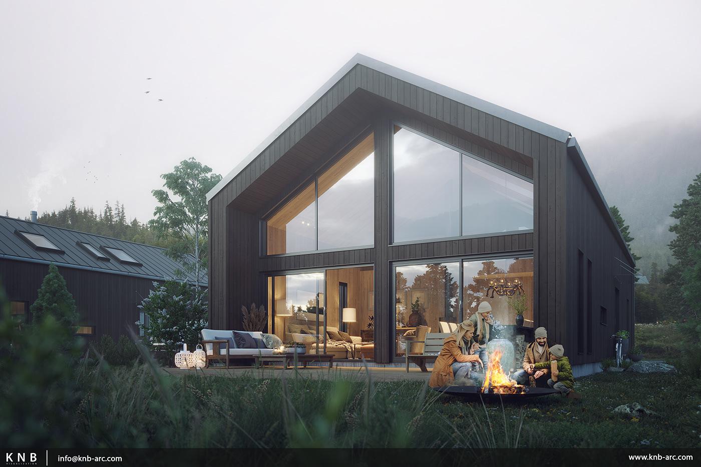 #render #cabin #exterior
