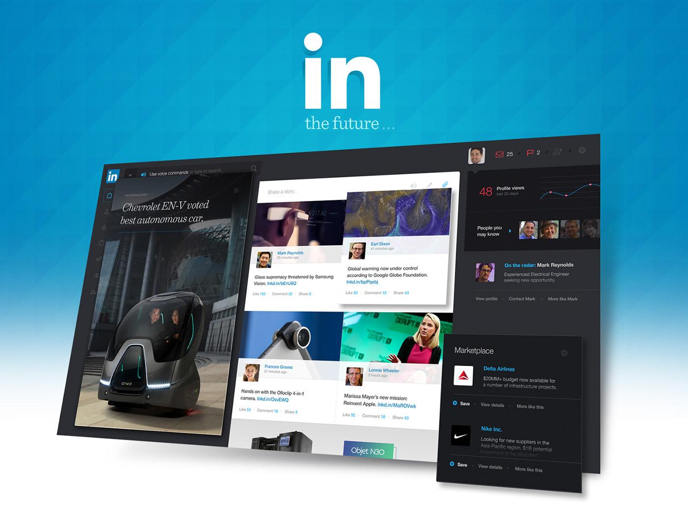 redesign,concept,UI,ux,ui design,UX design,Webdesign,Linkedin,digital design,professional network,interface design