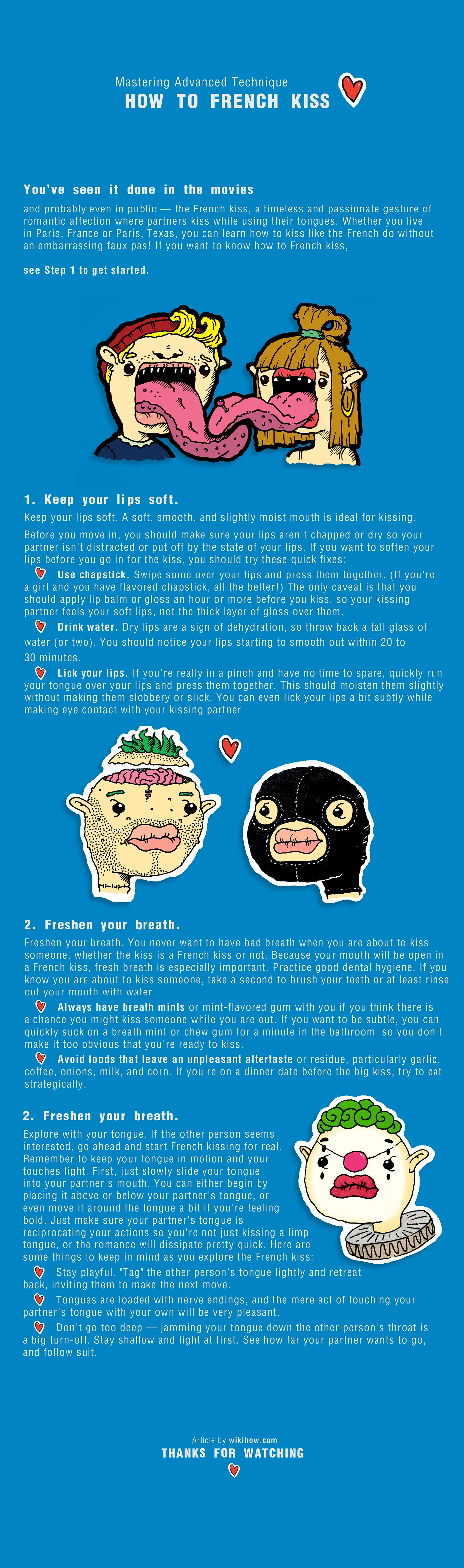 Art French kiss howto
