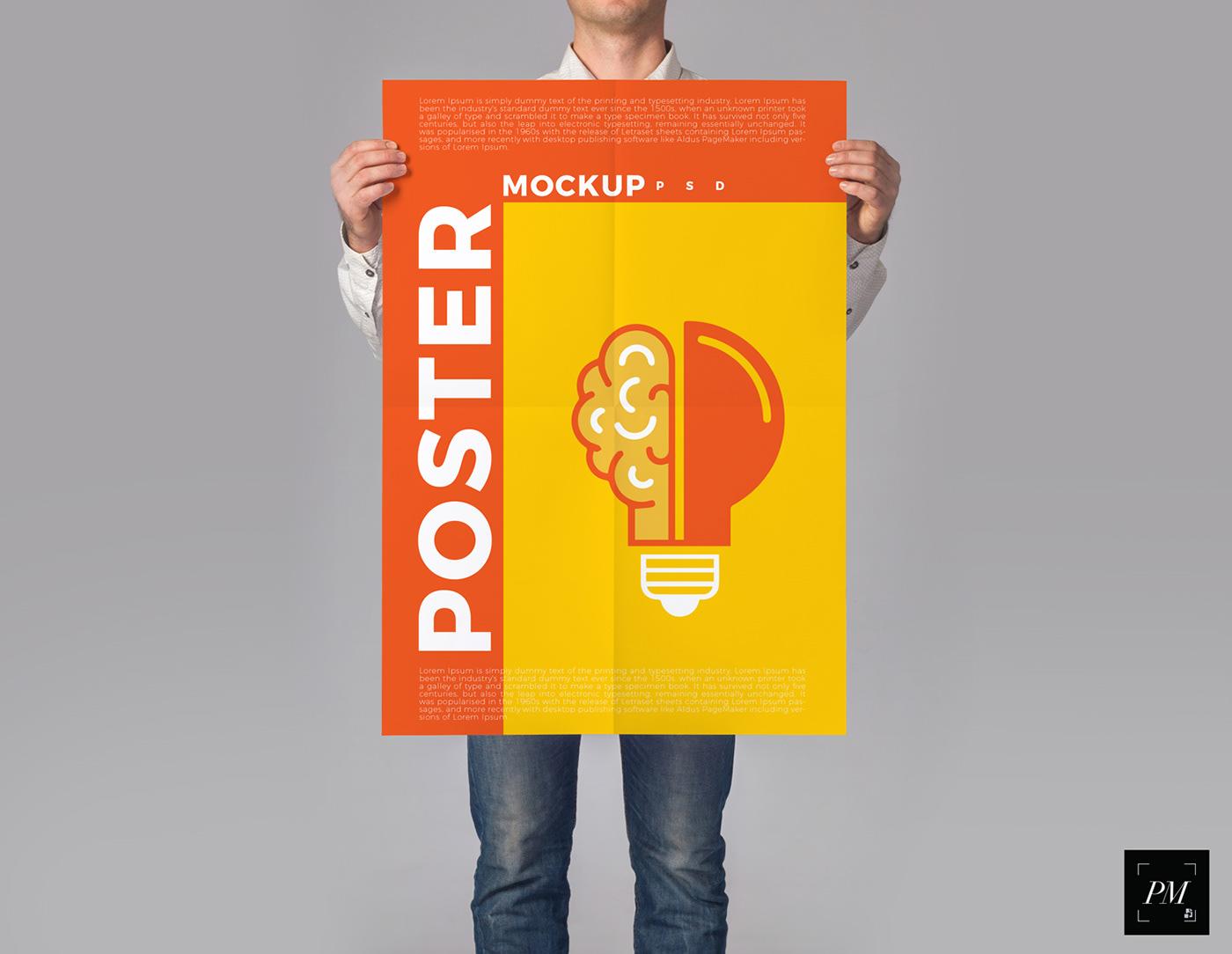 Poster Mockup Mockup free mockup  mockup free mockup psd freebie branding  graphic design  Advertising