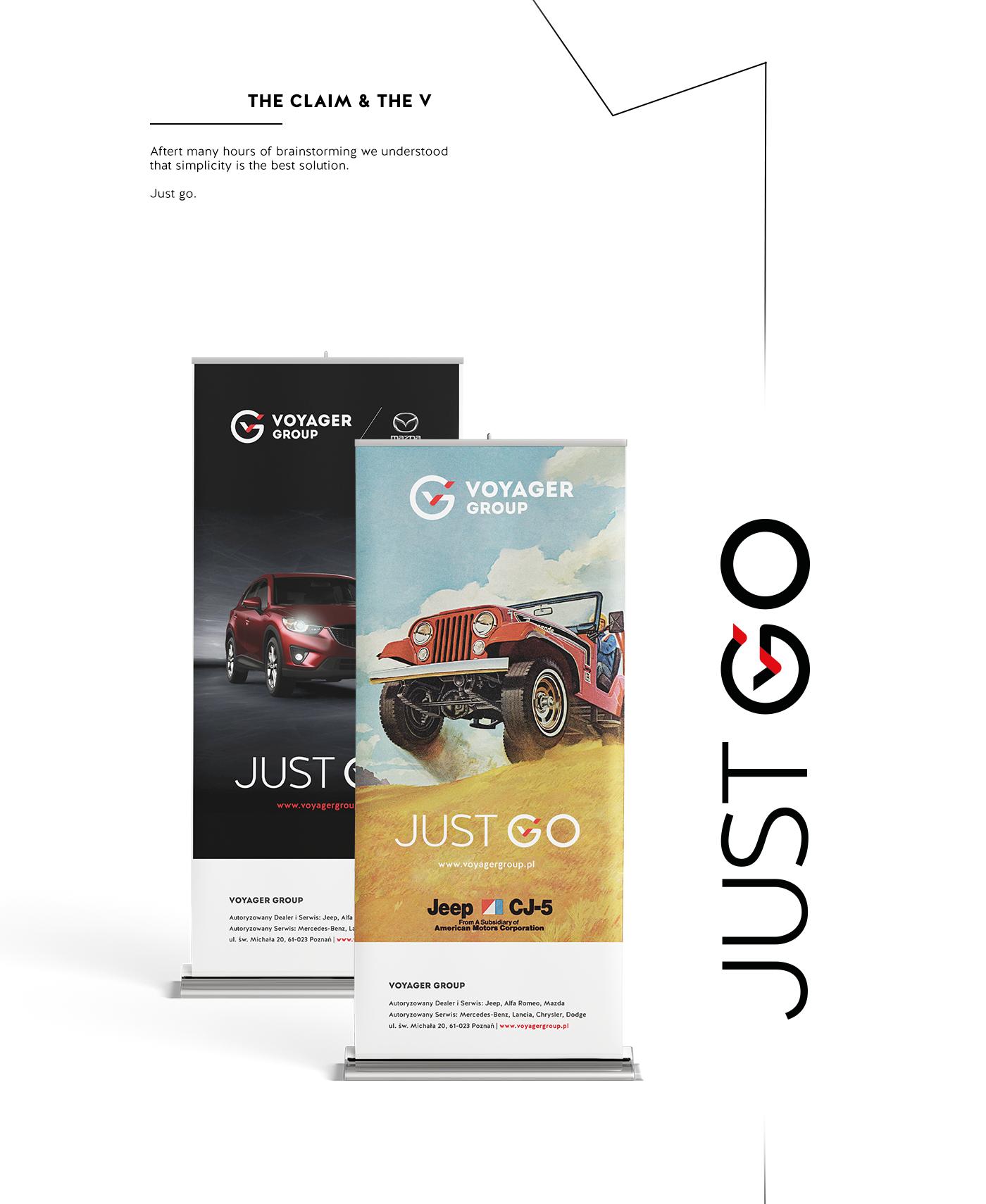 car dealer jeep mazda poznan branding  poznań branding samochody logo CI