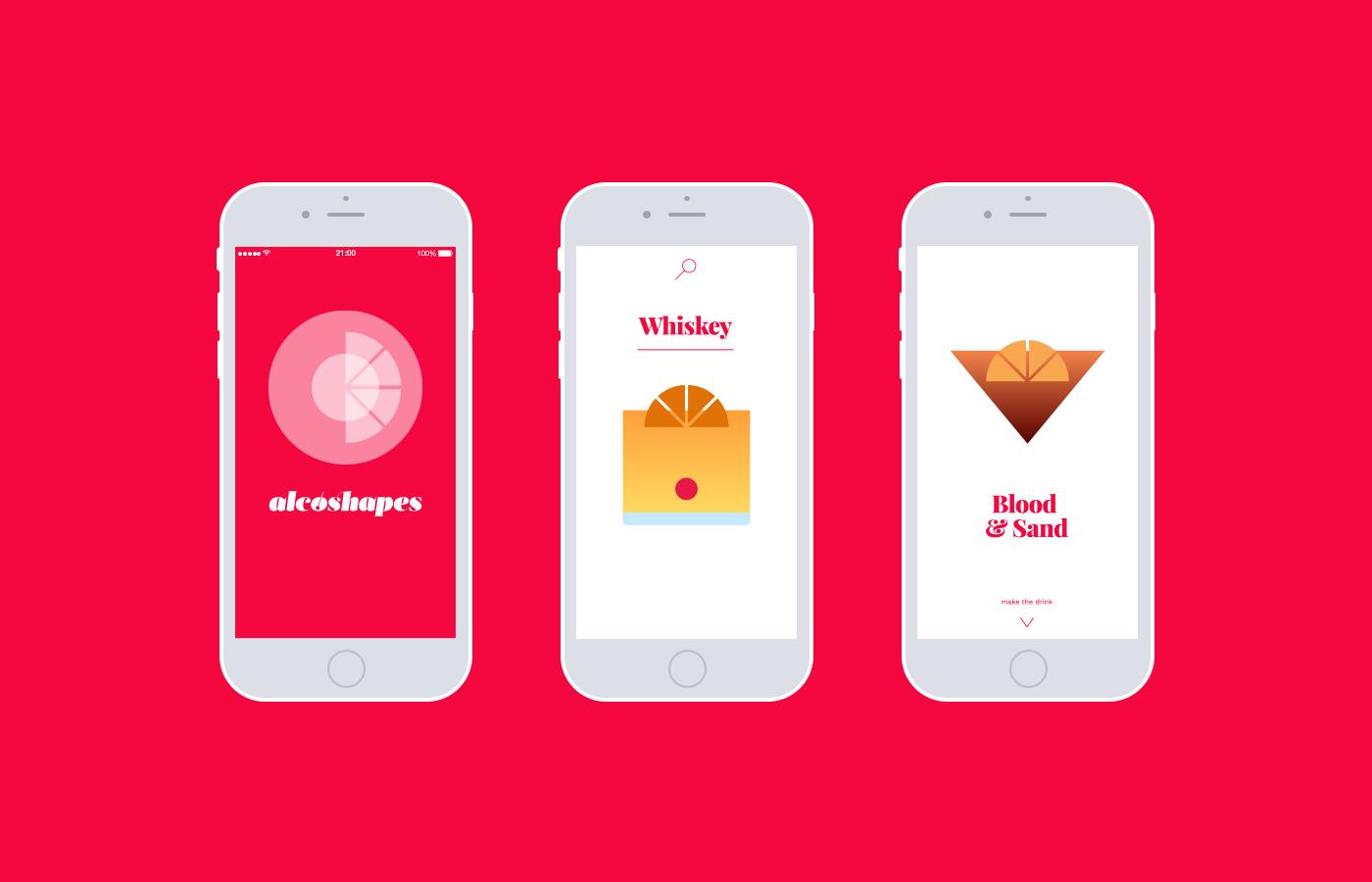 cocktails drinks geometric
