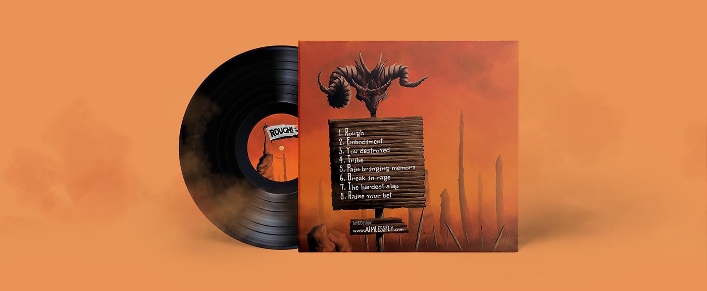 vandal Heavy metal rock Album cover darko janevski aimless Fly aimlessfly design thrash digital