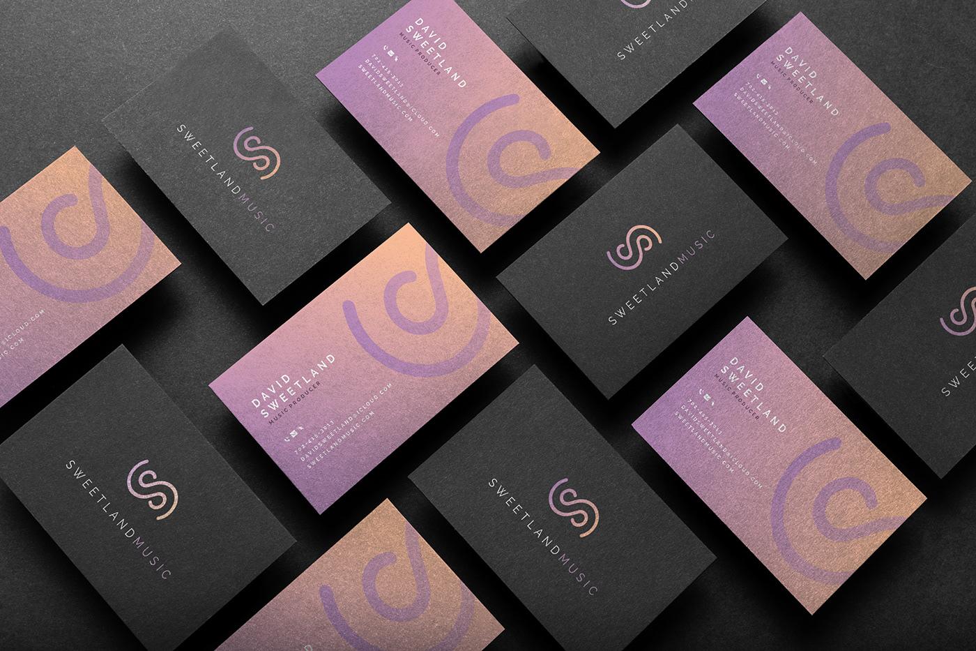 branding  logo Fashion  clean modern music colors professional