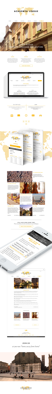 Responsive Website italian school logodesign digitalvisualidentity White orange bologna