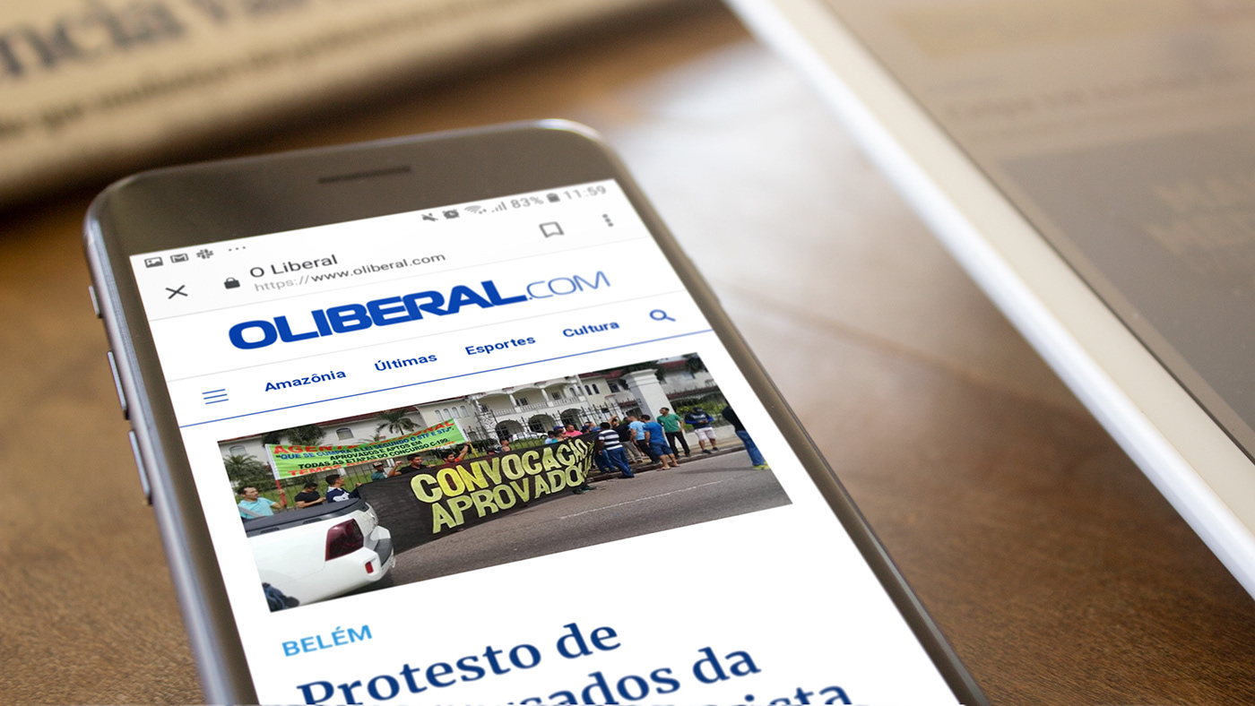 jornalismo ui ux Web Design  portal news newspaper o liberal