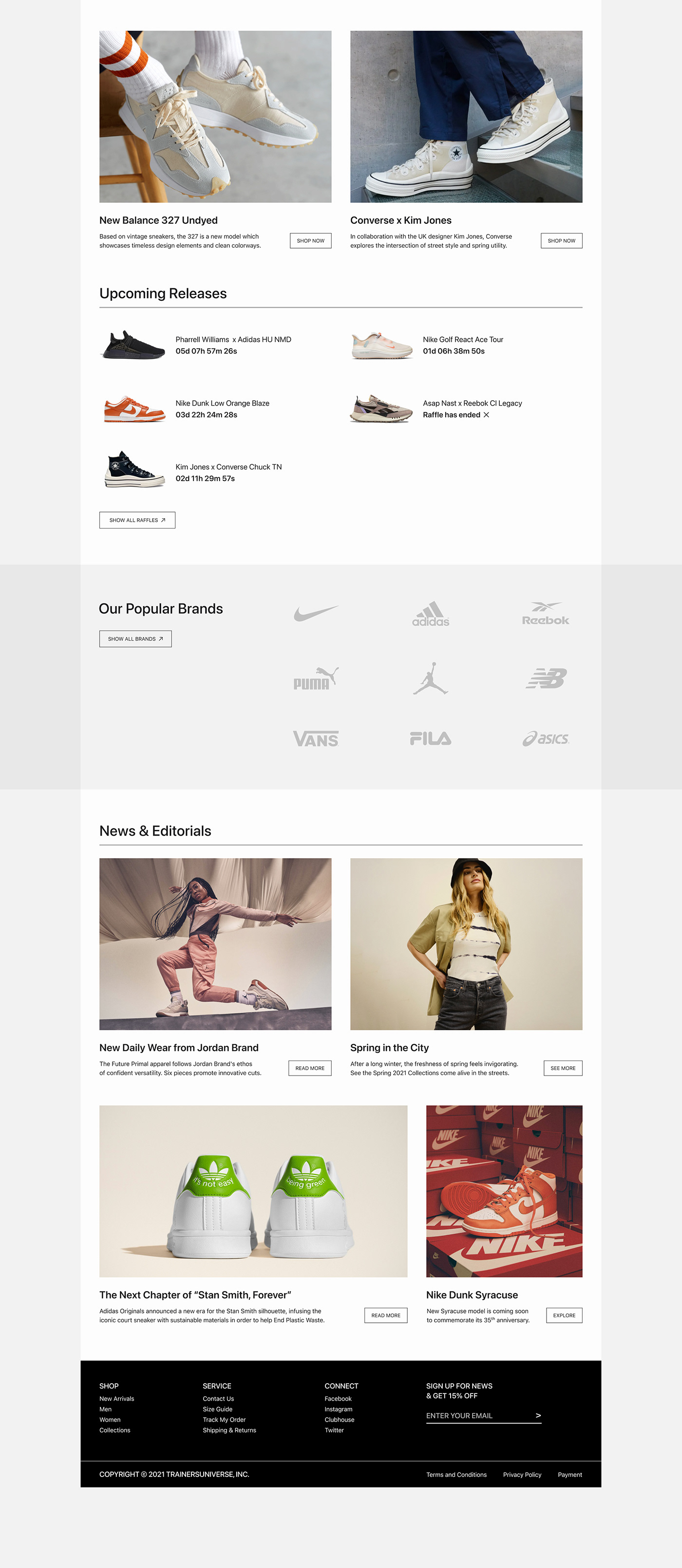 e-commerce ux Website Fashion  Minimalism monochrome ux/ui black and white store UI