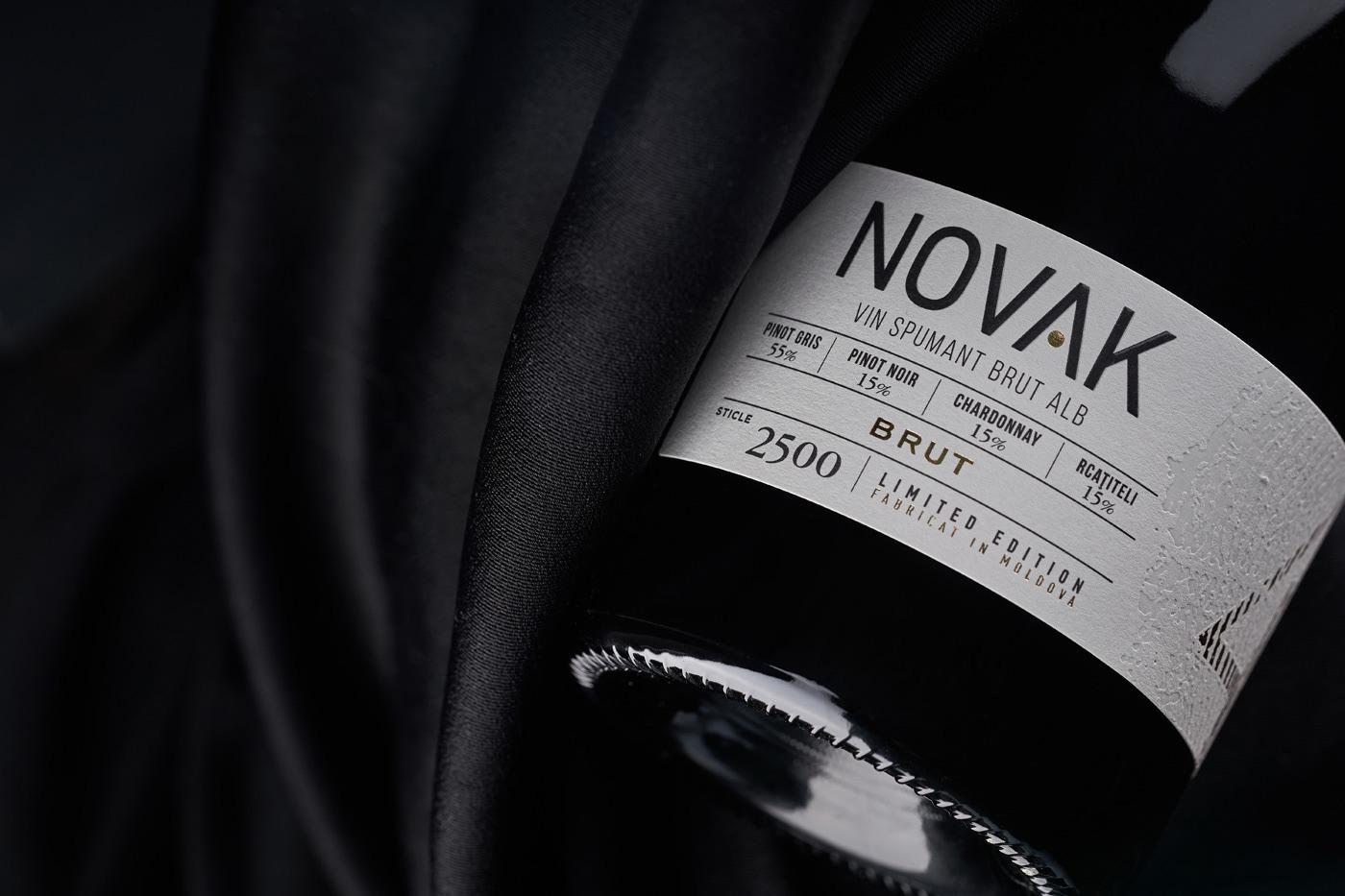 43oz design studio label design Moldova novak winery Packaging packaging design sparkling wine wine label