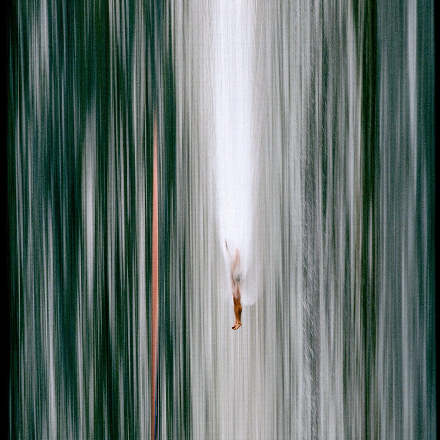 synchroballistic Red Bull Cliff Diving diving swim sports analog slit scan