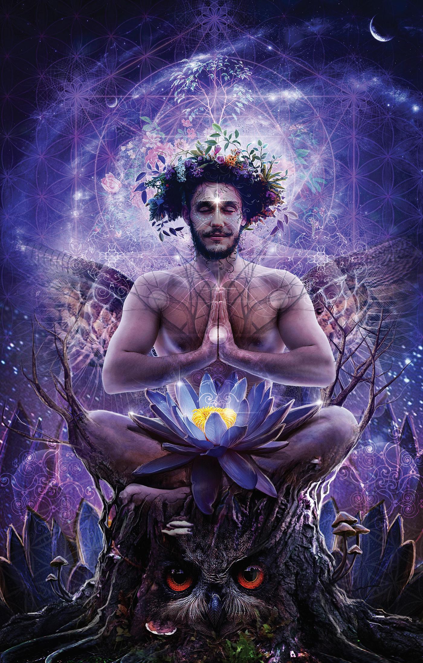 art digitalart fantasy Lotus Mattepainting sacred spirit
