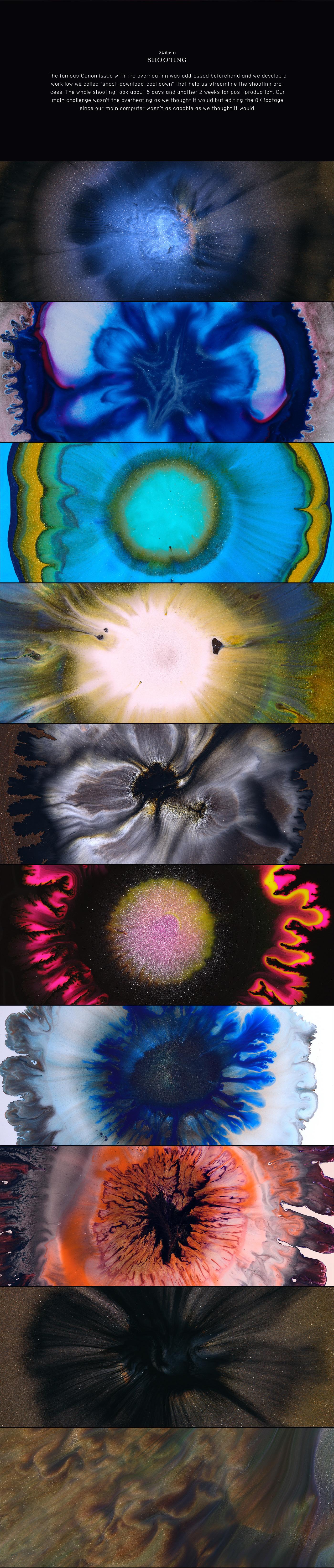8k Canon canon r5 experimental ink in motion liquid art liquid ink macro macro video short film