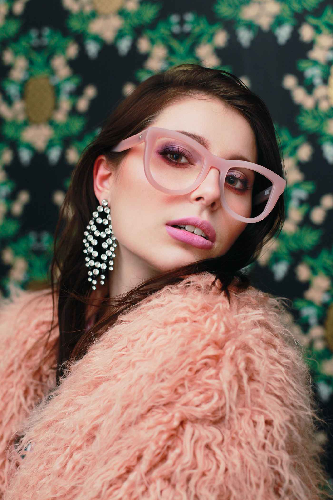 creative glasses makeup