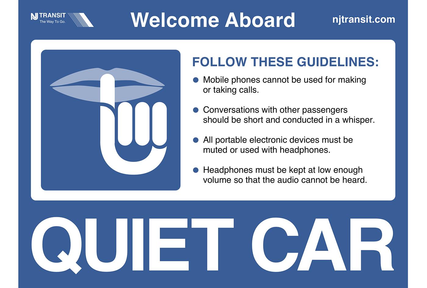 NJ TRANSIT NJT sketch quiet car train