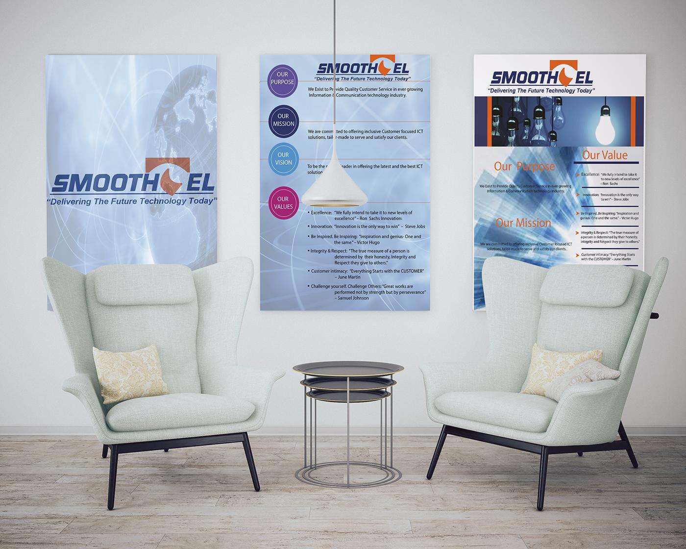 corporate branding graphic design  Vision Board reception branding  corporate