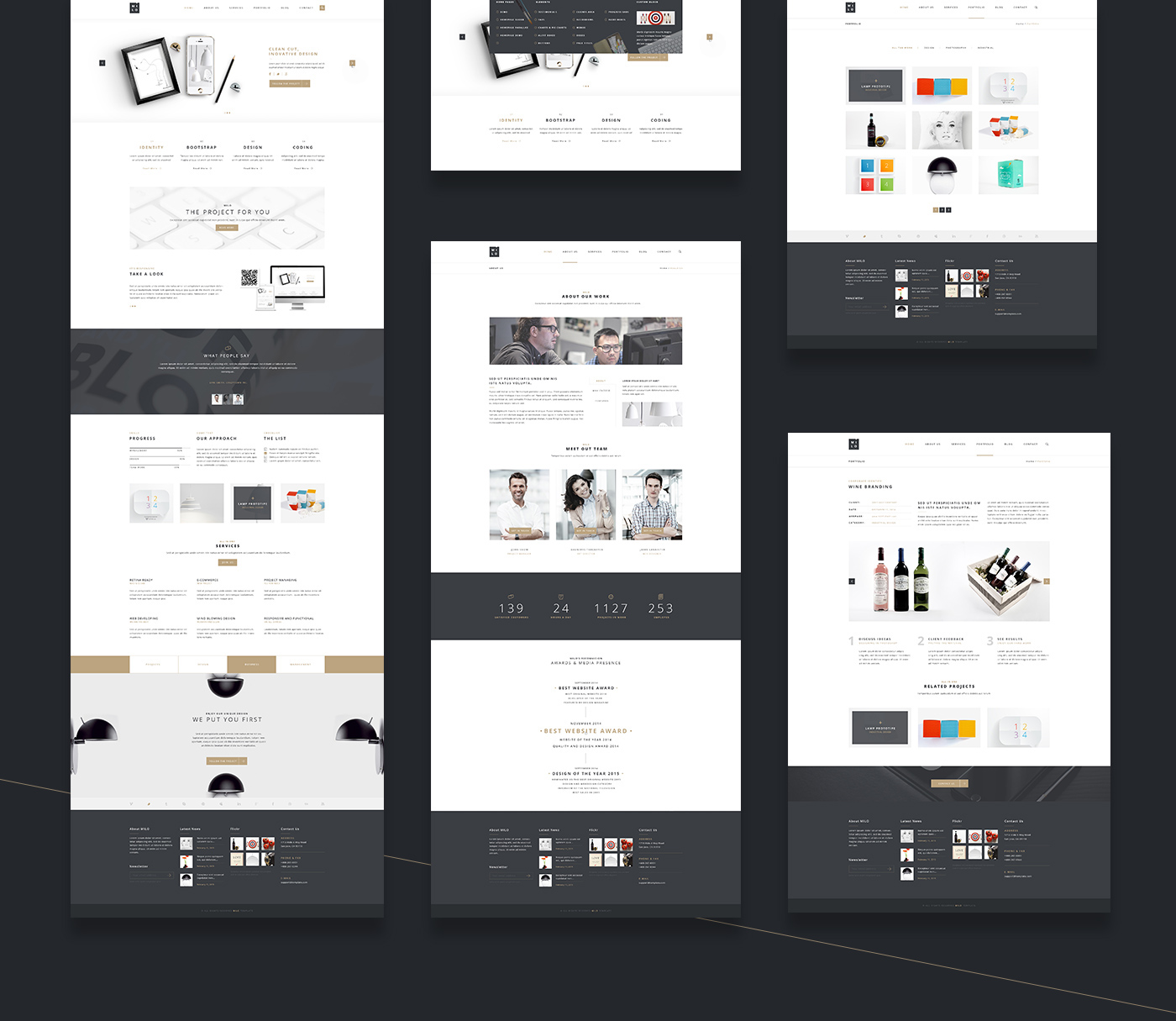 Website html5 css3 bootstrap modern minimal business joomla psd download