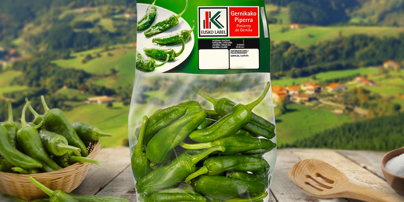 hazi euskolabel productos frescos marca Packaging pais VASCO