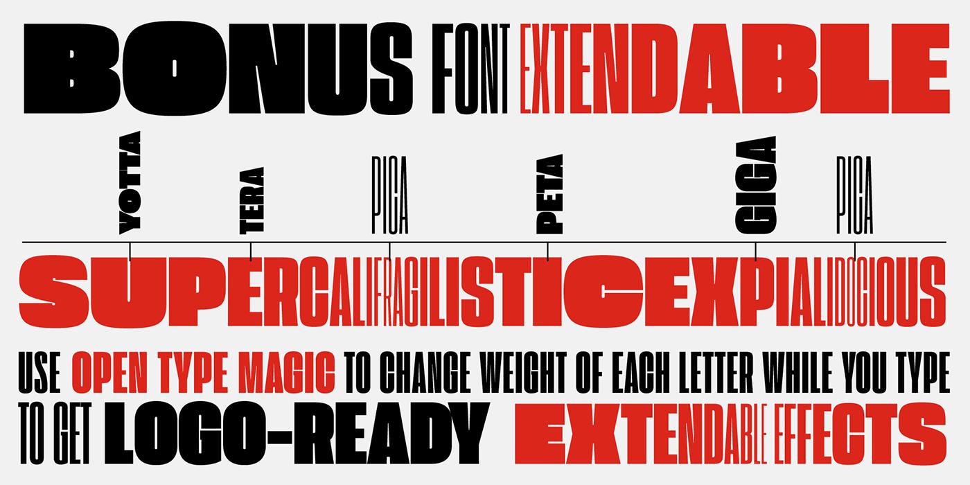Extenda Free Font Typeface family on Behance