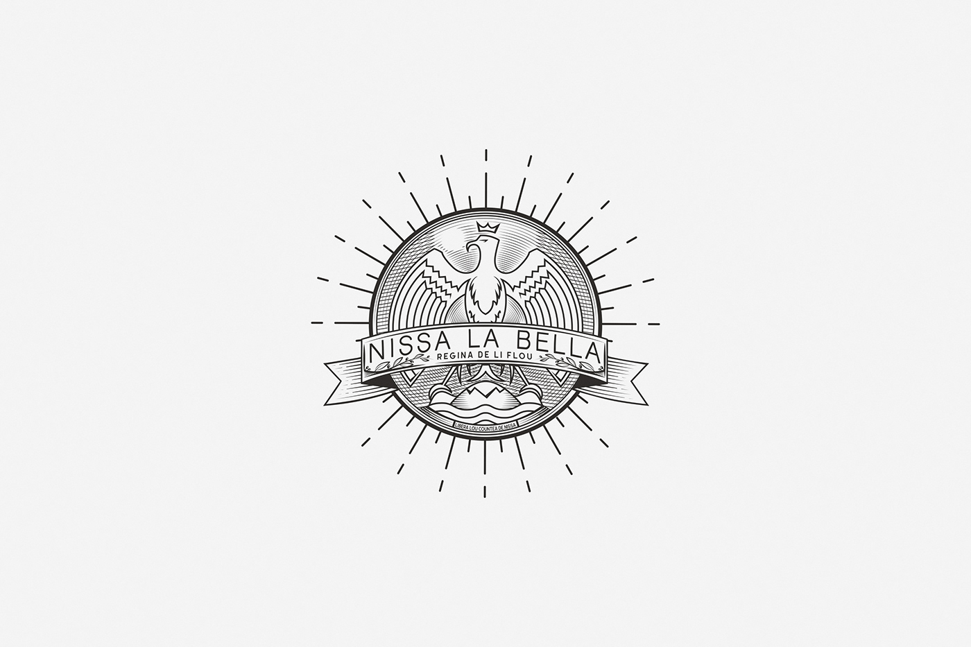 nice nissa Ville de Nice cote d'azur lecoupdulapin aiglon m'en bati logo emblem nissa la bella
