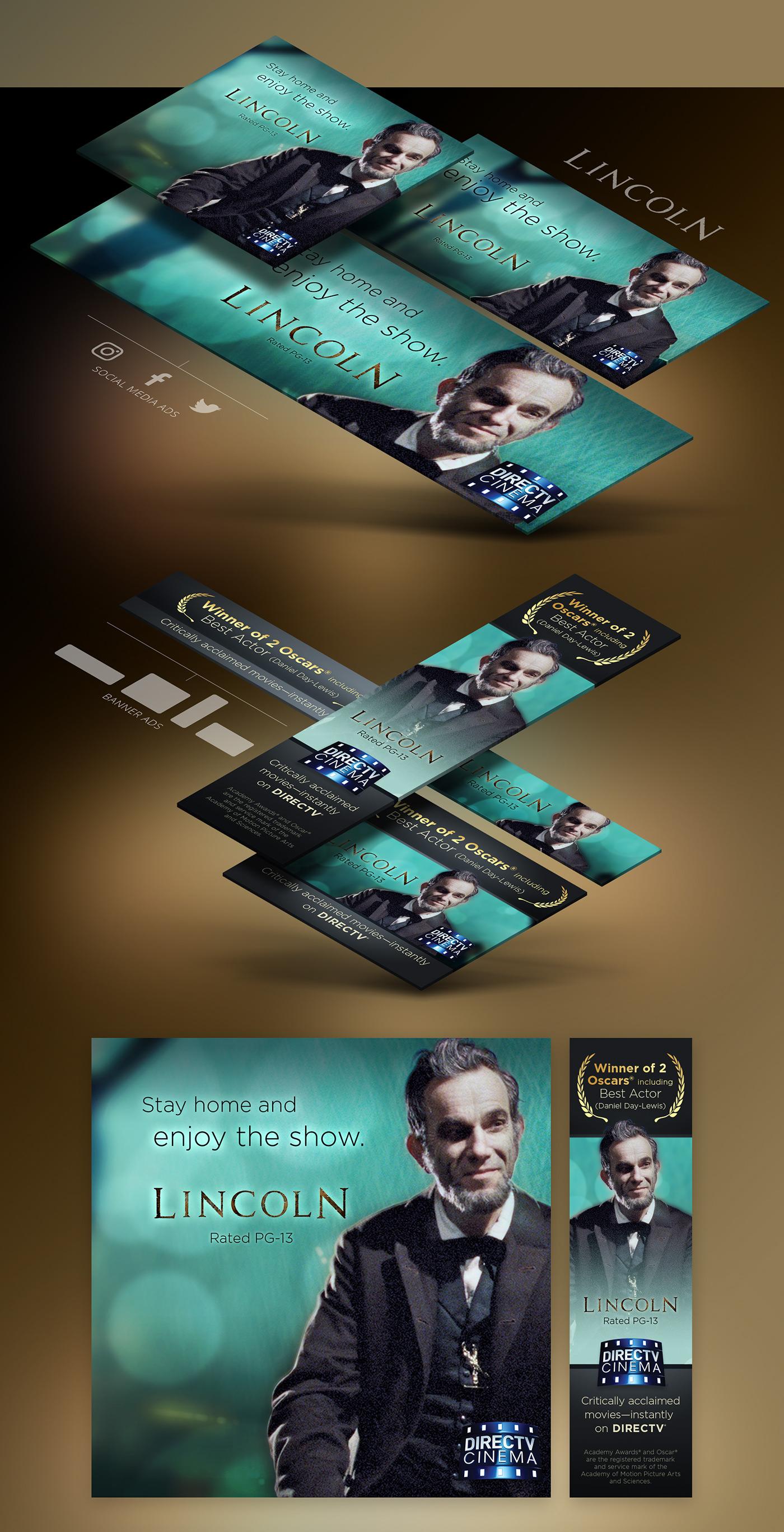 DirecTV Cinema social media banner ads Academy Awards instagram facebook twitter campaign